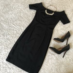 H&M Black off the Shoulder Dress
